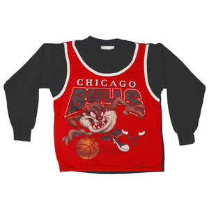 90's Chicago Bulls Looney Tunes Taz Shirt size 6