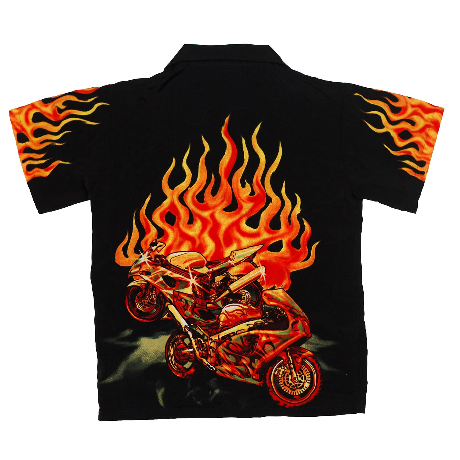 Motorcycle Flames Button up size xs (4/5)