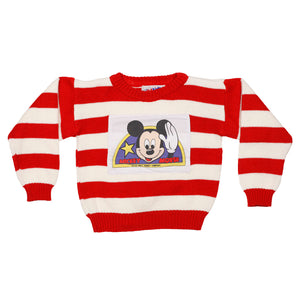 Mickey Mouse striped knit sweater size 4T