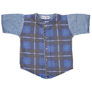 Denim plaid shorts set size 2T