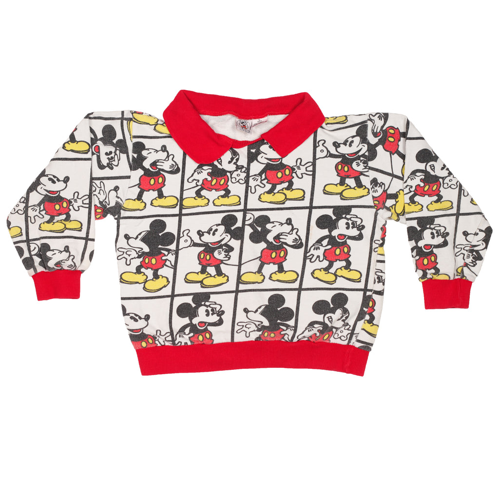 Vintage Mickey Mouse Collared Sweatshirt size L 6-7