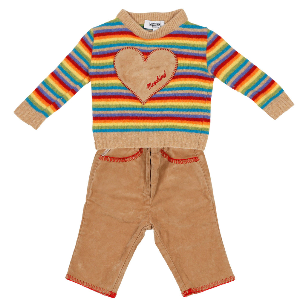 Vintage Moschino 2 piece sweater and pant set size 12m
