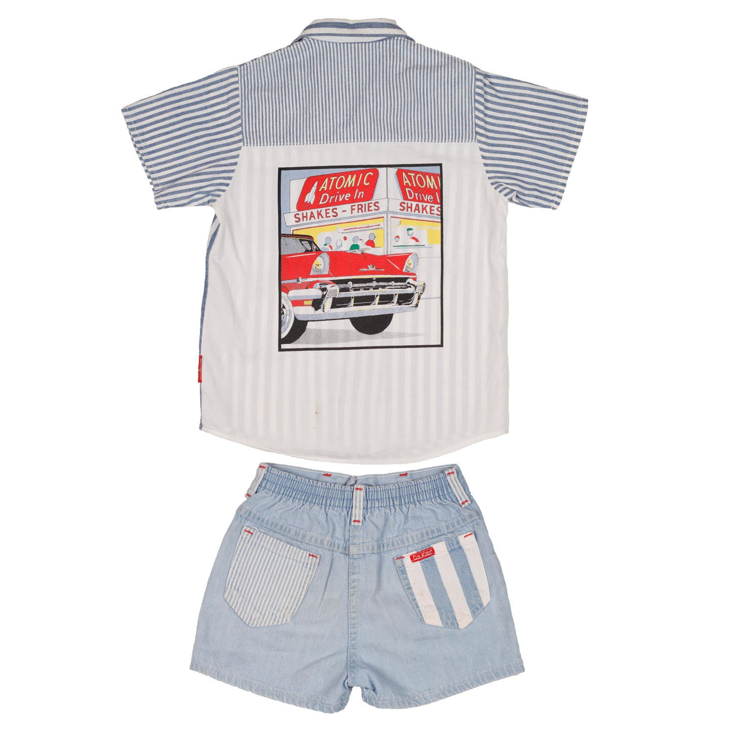 Vintage Oshkosh 2 piece short set size 6/7
