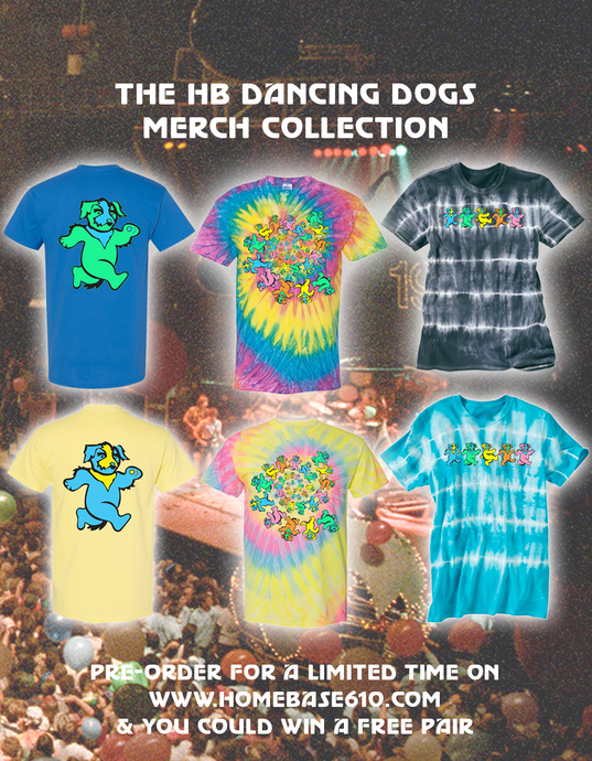 PRE-ORDER A Dancing Dogs Tee & You Could Win A Pair of Grateful Dead Dunks