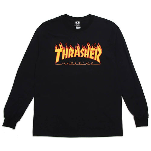 Flame Logo LS T-Shirt / Black