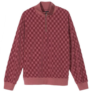 Check 1/4 Zip Mock Pullover