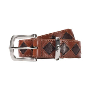 Argyle Stich Leather Belt