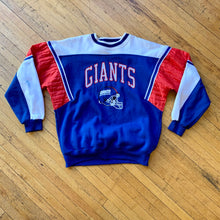 Load image into Gallery viewer, Starter NY Giants Color Block Embroidered Crewneck