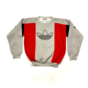 Adidas Color Block Logo Crewneck