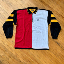 Load image into Gallery viewer, Bootleg Tommy Hilfiger Split Color 1/4 Zip LS Polo