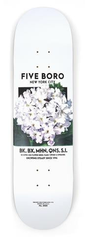 5Boro White Flower Seed Deck 8.5