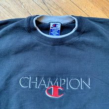 Load image into Gallery viewer, Champion Embroidered Spellout Crewneck