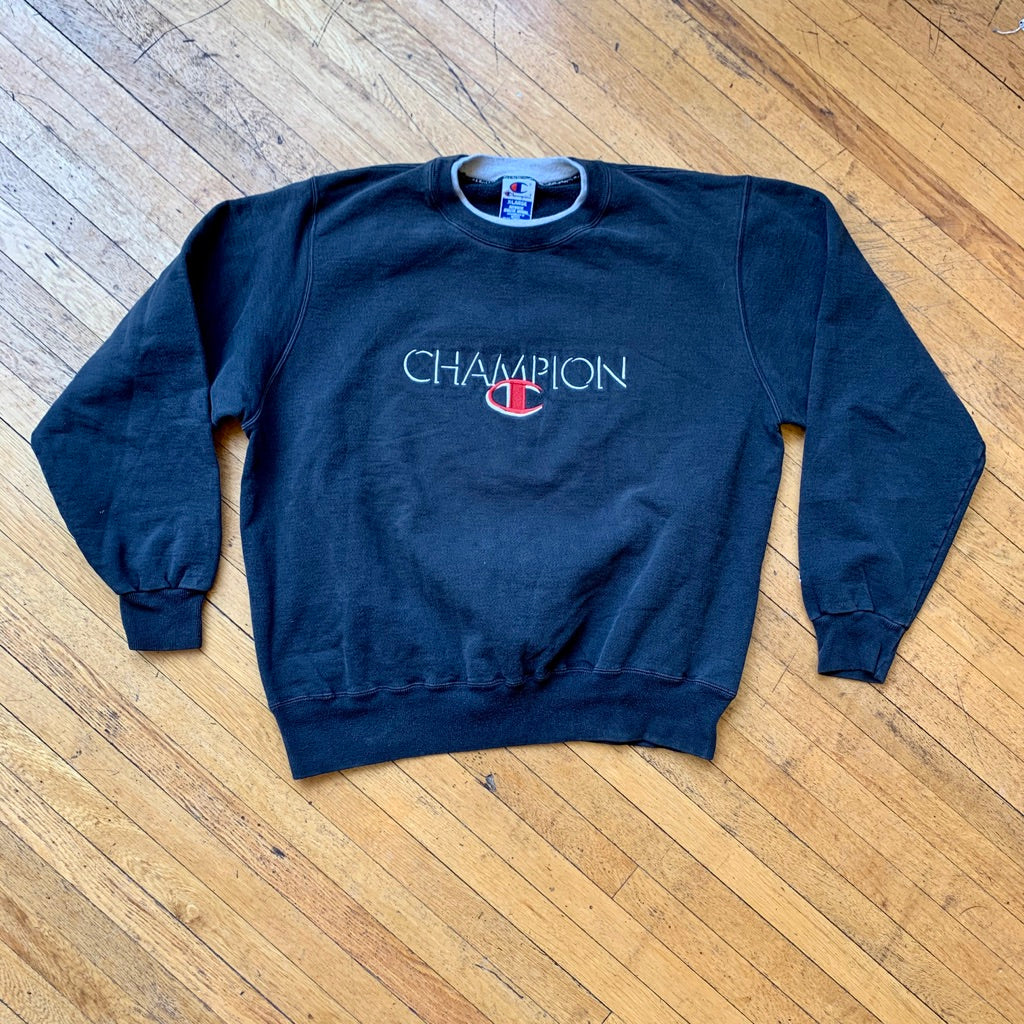 Champion Embroidered Spellout Crewneck