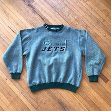 Load image into Gallery viewer, Logo Athl. NY Jets Micro Stripe Crewneck