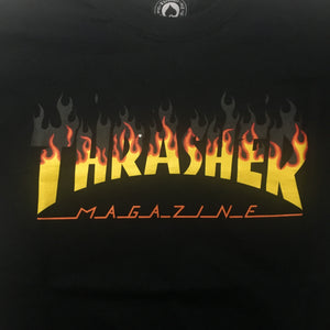 BBQ Flame Logo T-Shirt / Black