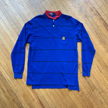 Load image into Gallery viewer, Polo RL Thin Striped Cookie Patch Pocket Long Sleeve Polo