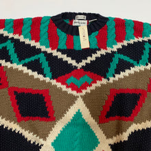 Load image into Gallery viewer, Pierre Cardin Abstract Knit Sweater