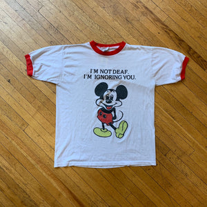 "Bootleg Mickey ""I'm Not Deaf"" Ringer T-Shirt"