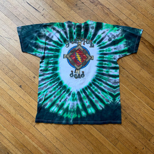 Grateful Dead 1995 Celtic Skull & Roses Tie-Dye T-Shirt