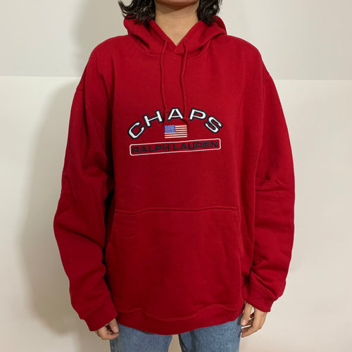 Chaps RL Arched Embroidered Hoodie