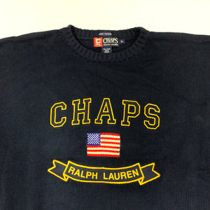 Chaps RL Collegiate Embroidered Sweater
