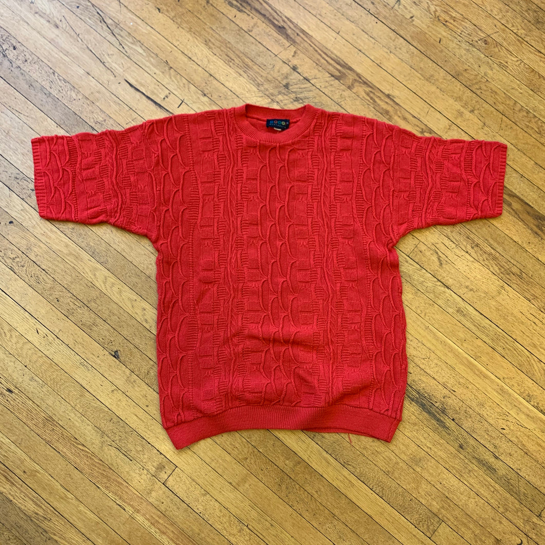 Coogi Knit Short Sleeve Sweater