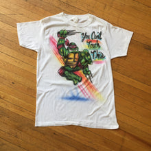 "Load image into Gallery viewer, Ninja Turtles ""You Can't Touch This"" Airbrush T-shirt"