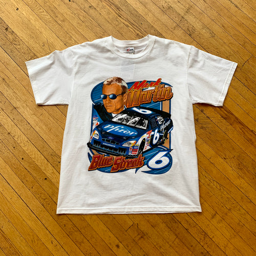 NASCAR Mark Martin Blue Streak T-Shirt