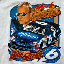 Load image into Gallery viewer, NASCAR Mark Martin Blue Streak T-Shirt
