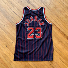 Load image into Gallery viewer, NBA Chicago Bulls Pinstripe Jordan Jersey