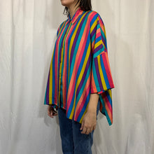 Load image into Gallery viewer, Express Carnival Striped Silk Top
