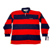 Load image into Gallery viewer, Tommy Hilfiger Bold Striped Fleece Polo