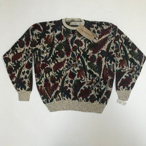 Crossings NWT Abstract Knit Sweater