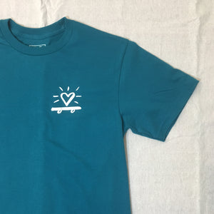 Skate Heart T-Shirt / Dark Teal