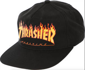 Thrasher Flame Logo Hat Black
