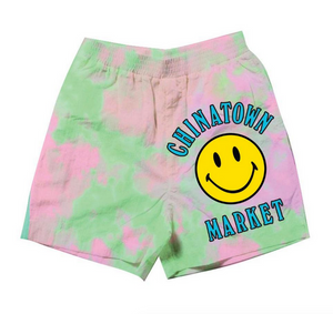Smiley Multi Tie Dye Sweat Short