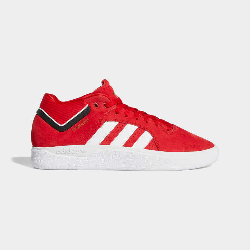 adidas Tyshawn Skateboard Shoes - Scarlet/Cloud White/Core Black