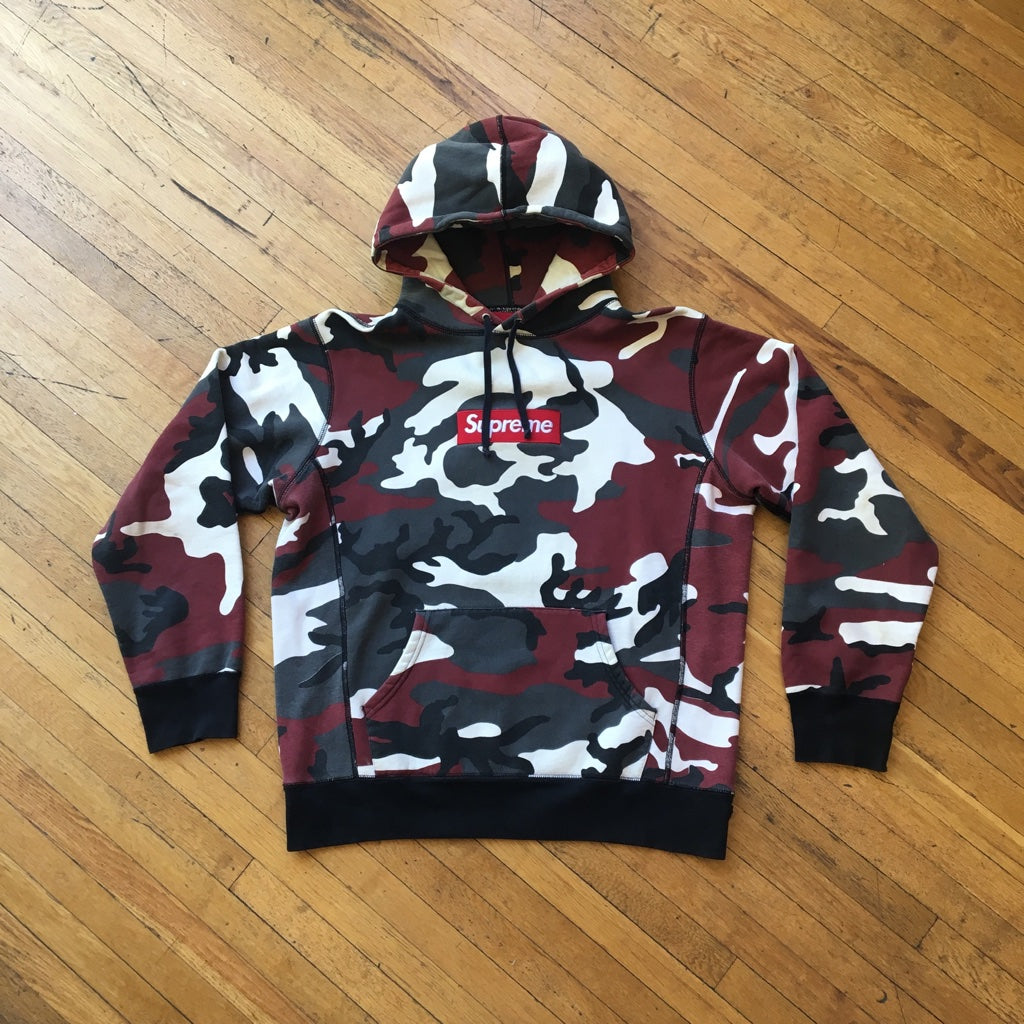 CONSIGN AS 15 : SUPREME FW 13 20TH ANNIVERSARY BOX LOGO HOODIE URBAN CAMO