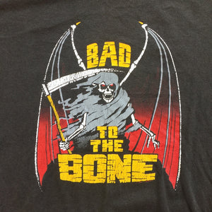 "Harley Davidson ""Bad to the Bone"" 80's Era Single Stitch T-Shirt"