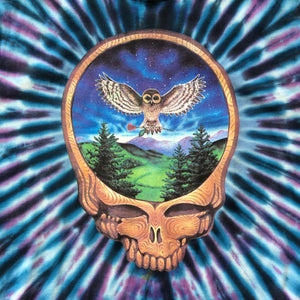 Grateful Dead 2004 Owl Tie-Dye Cut Off T-Shirt
