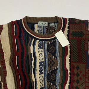 Alfani Faux Coogi Sweater