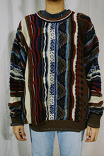 Load image into Gallery viewer, Alfani Faux Coogi Sweater