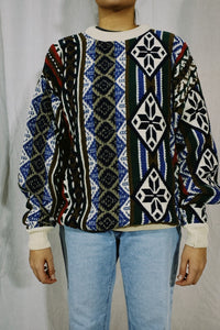 Chaps RL NWT Abstract Knit Sweater