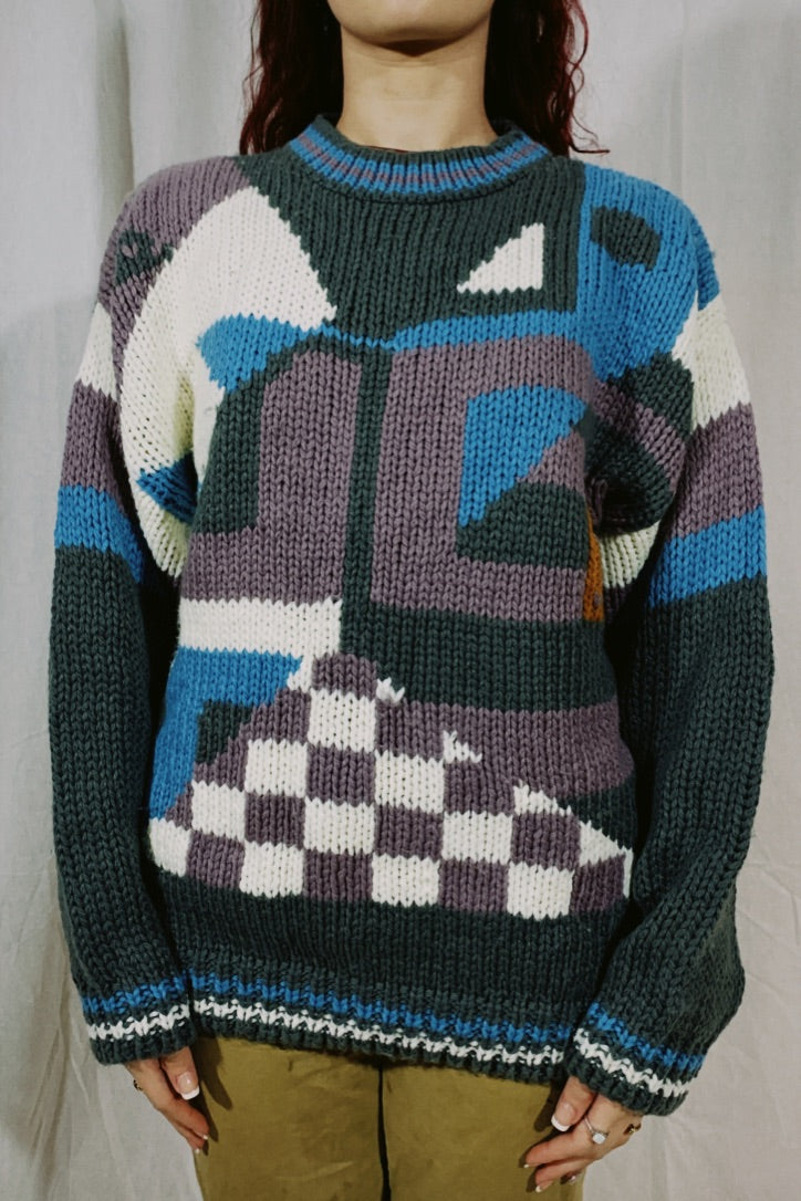 Circola Moda Abstract Knit Sweater