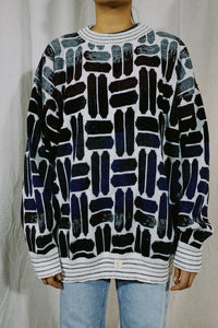 Megalos Abstract Oval Knit Sweater