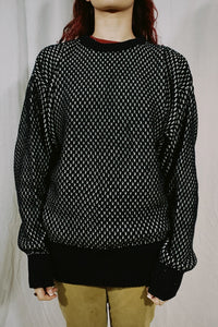 Generra Collection Cross Stitch Knit Sweater
