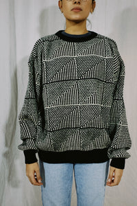 Jantzen NWT Abstract Wool Knit Sweater