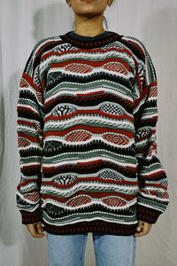 Protege NWT Faux Coogi Knit Sweater