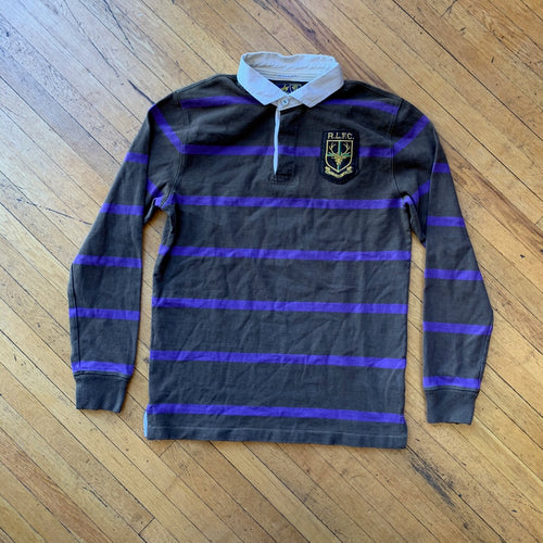 Polo RL Deer Patch Striped Rugby