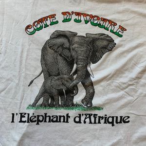 Ivory Coast African Elephant French Text T-Shirt